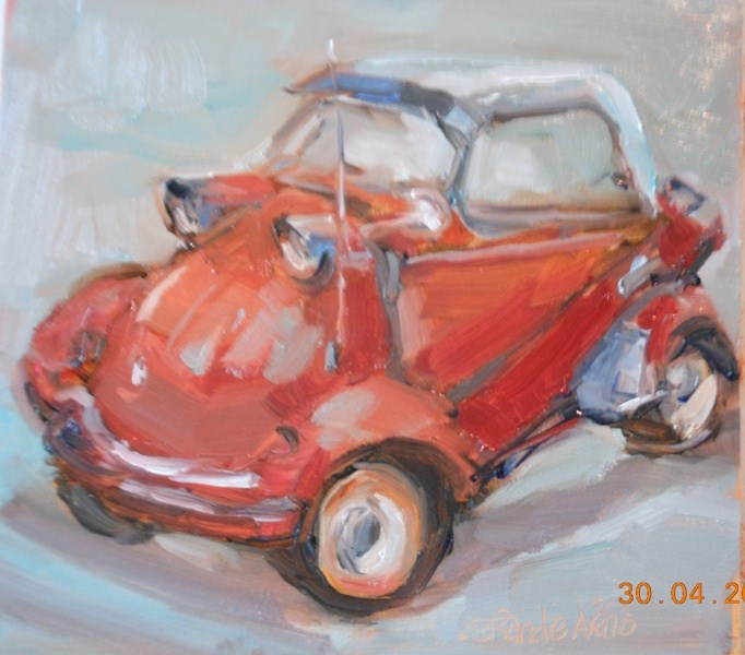 """Messerschmitt 1"" original fine art by Brande Arno"