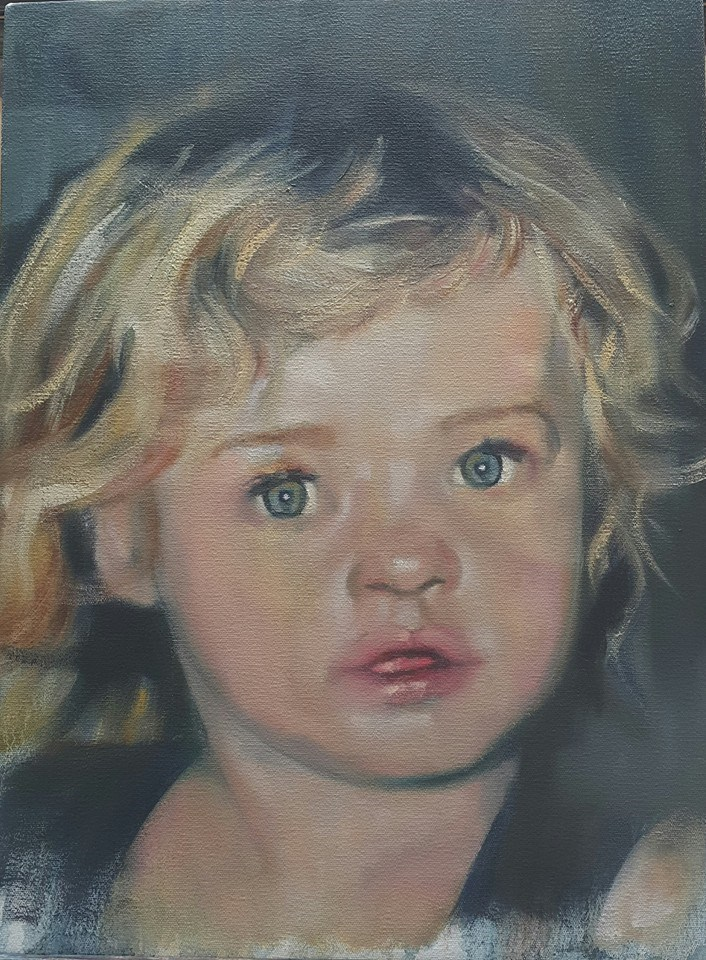 """Little angel"" original fine art by Rentia Coetzee"