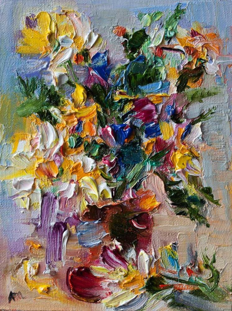 """Bouquet of Wildflowers"" original fine art by Anna  Fine Art"