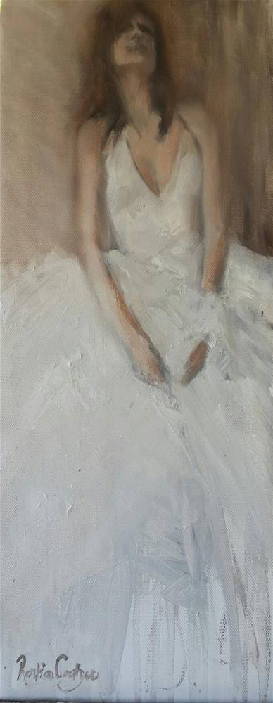 """Lady in white  1"" original fine art by Rentia Coetzee"