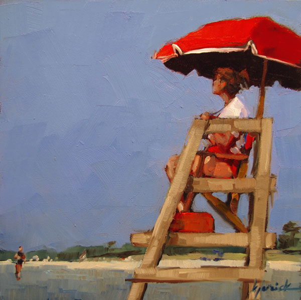 """High Chair"" original fine art by Karin Jurick"