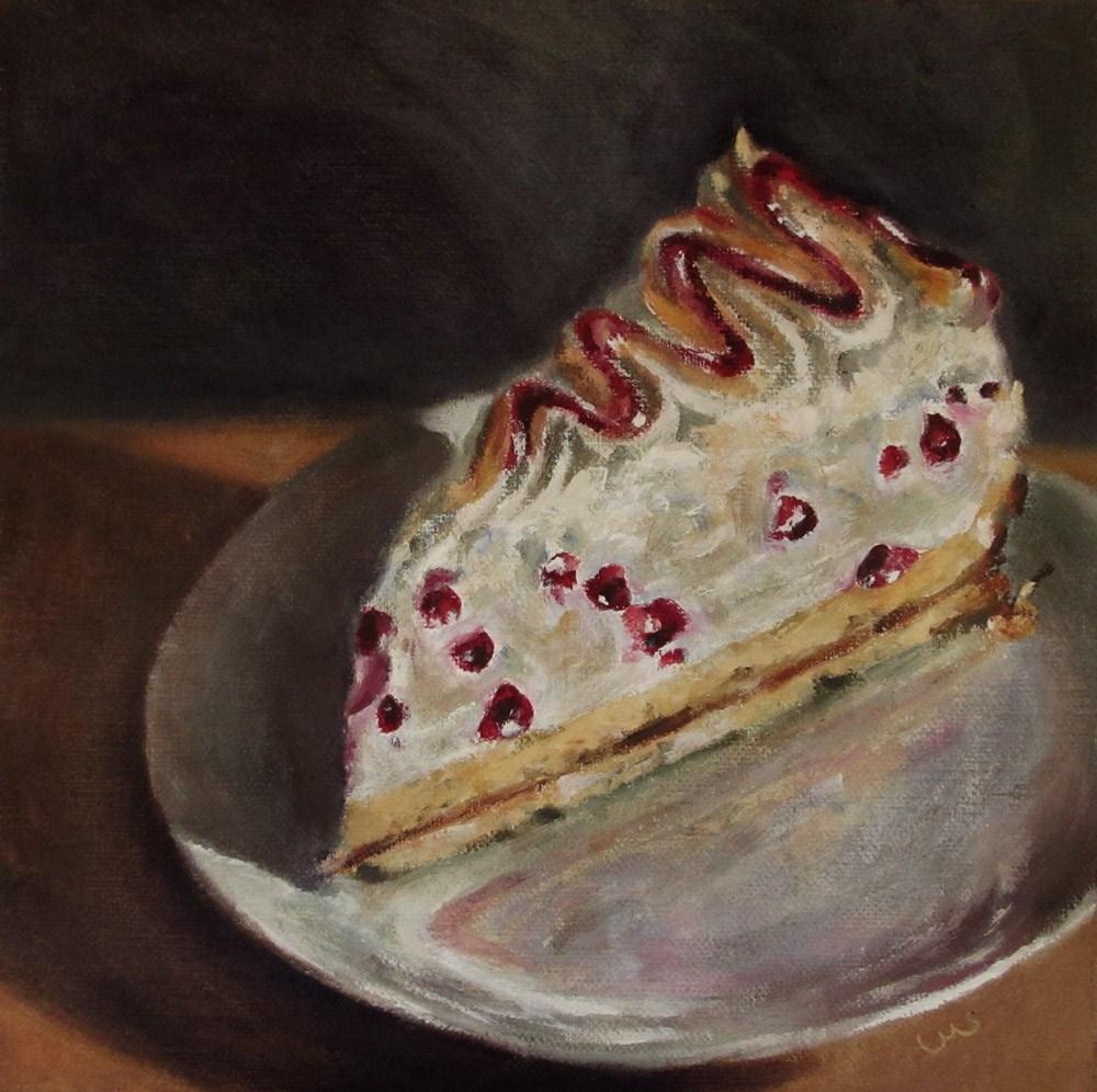 """""""Redcurrant Meringue Cake"""" original fine art by Ulrike Miesen-Schuermann"""