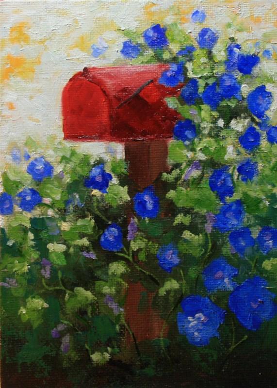 """Morning Glories"" original fine art by Jean Nelson"