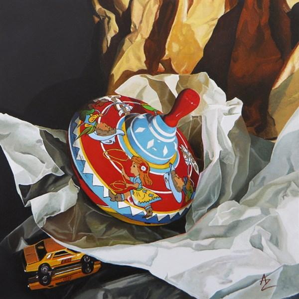 """Spintop"" original fine art by Alex Zonis"