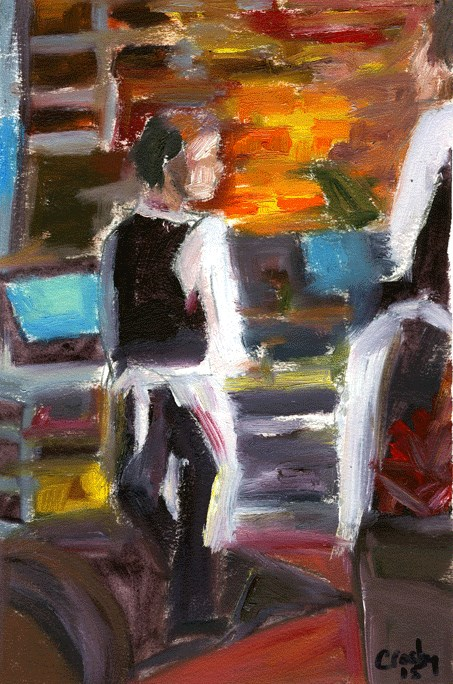 """At The Registers"" original fine art by Donna Crosby"