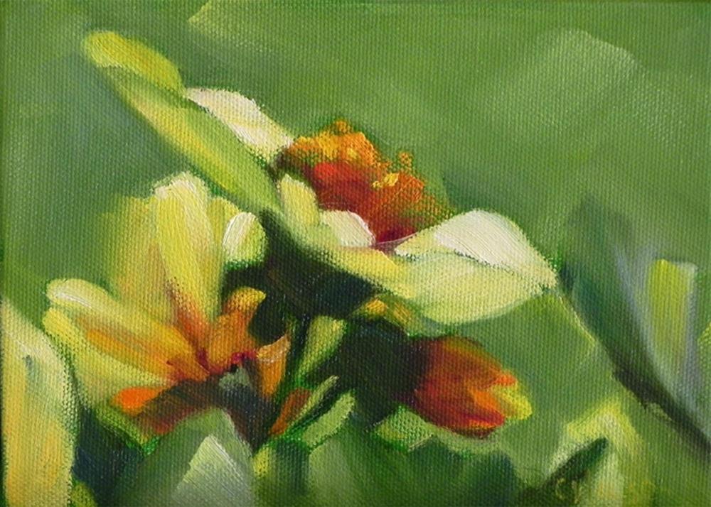 """Yellow Dahlias"" original fine art by Cheryl Wilson"