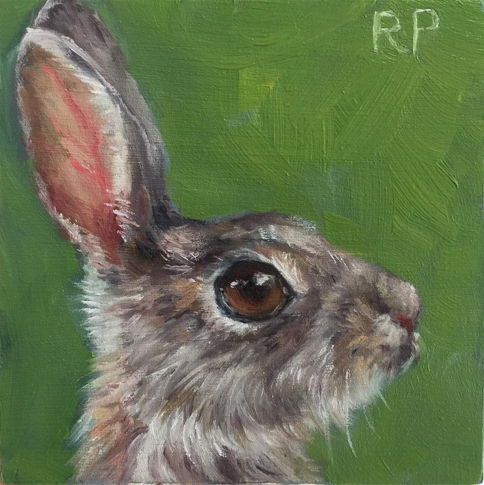 """Bunny study"" original fine art by Rhea  Groepper Pettit"