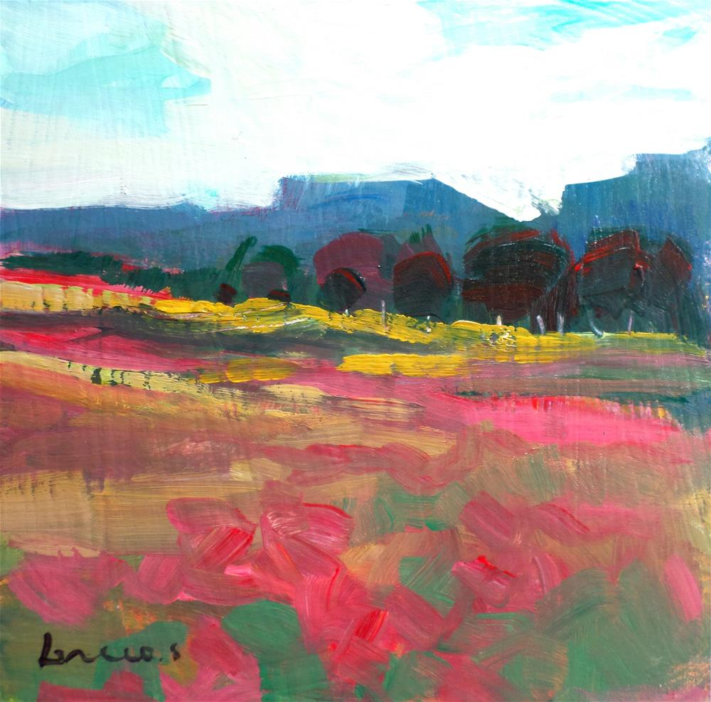 """""""flowers on the field"""" original fine art by salvatore greco"""