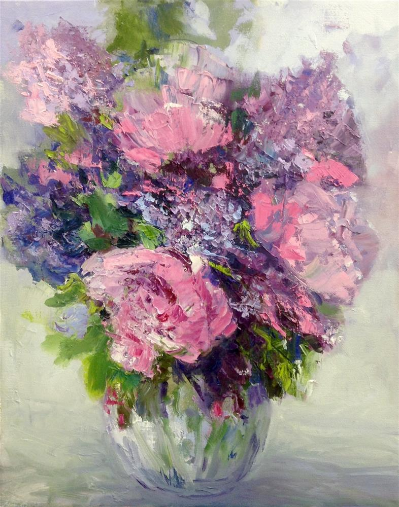 """Passion for Pink"" original fine art by Cathy Boyd"