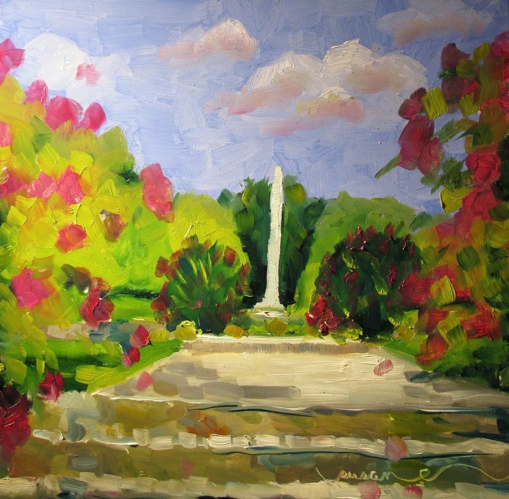 """Pop Geers Crepe Myrtles"" original fine art by Susan Elizabeth Jones"