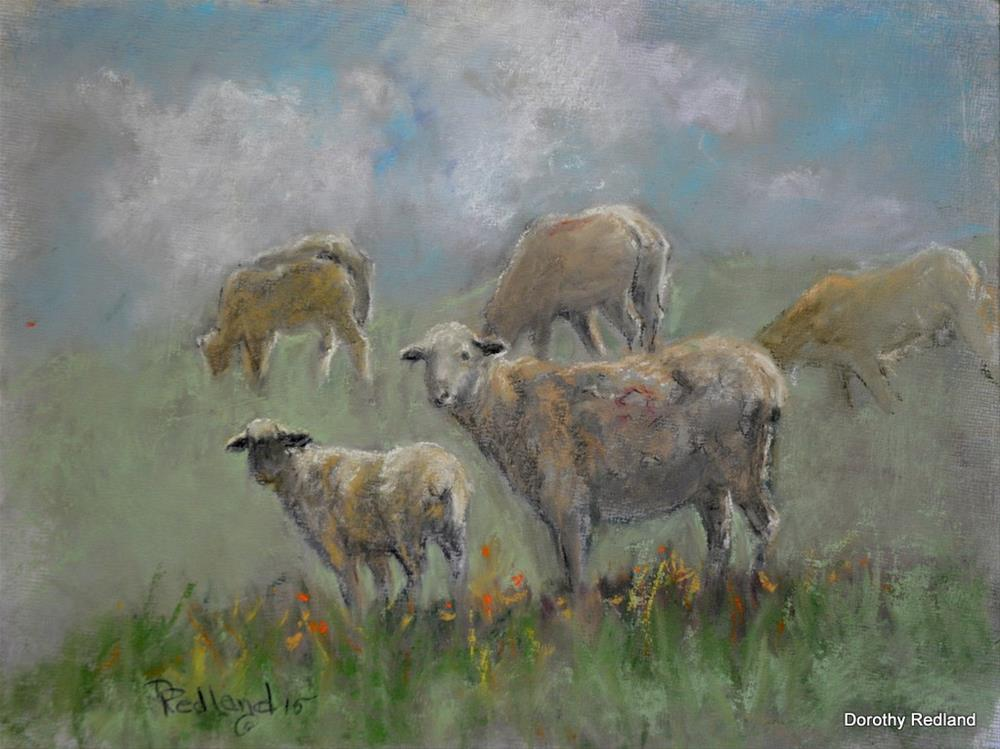 """Summer grazing"" original fine art by Dorothy Redland"