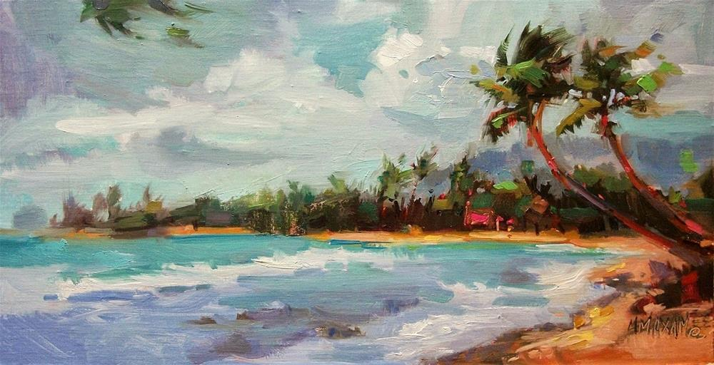 """Breezy Beach Day"" original fine art by Mary Maxam"
