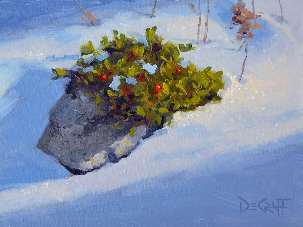"""Winter's Palette"" original fine art by Larry DeGraff"