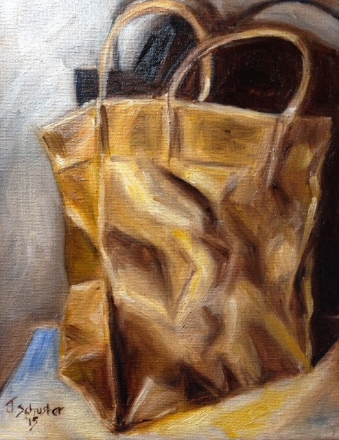 """Crumpled Paper Sack"" original fine art by Juli Schuster"