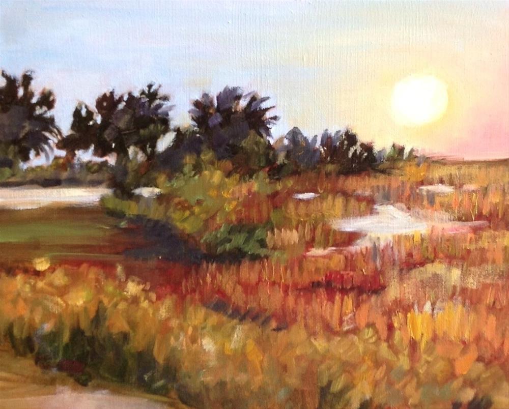 """Tybee Sky"" original fine art by Libby Anderson"