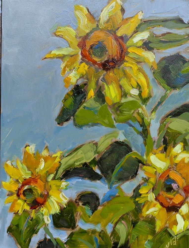 """Sun worshipers"" original fine art by Jean Delaney"