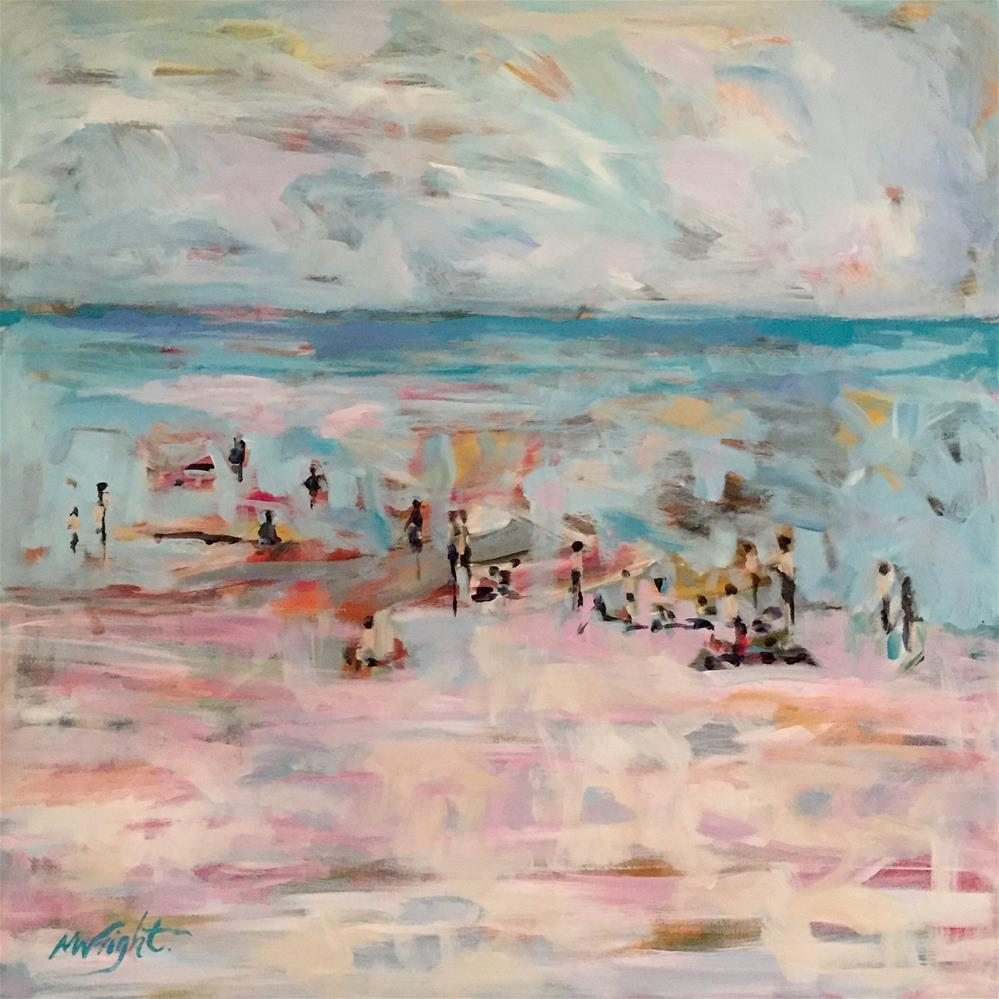 """Beach People"" original fine art by Molly Wright"