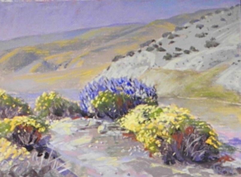 """""""The bluff flowers"""" original fine art by Toby Reid"""