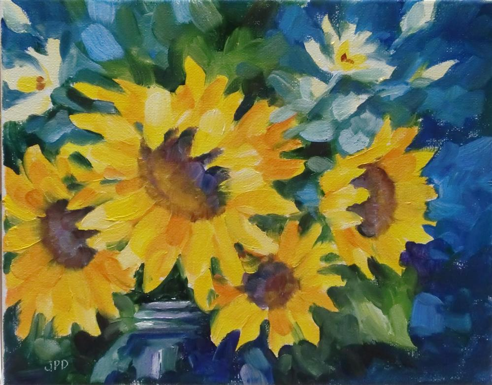 """Sunflowers"" original fine art by Jean Pierre DeBernay"