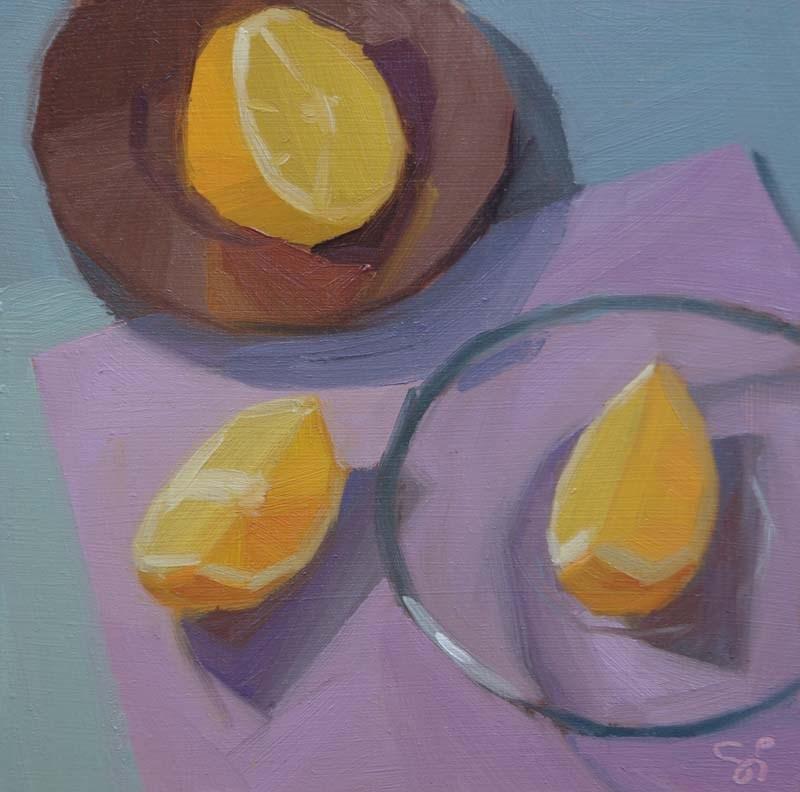 """""""Triangle"""" original fine art by Istvan Schaller"""