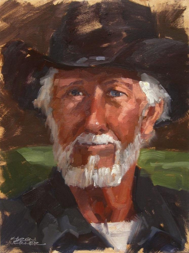 """Bill"" original fine art by Karen Werner"