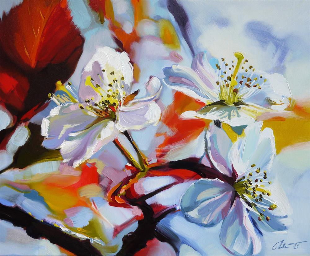 """flowers"" original fine art by Beata Musial-Tomaszewska"