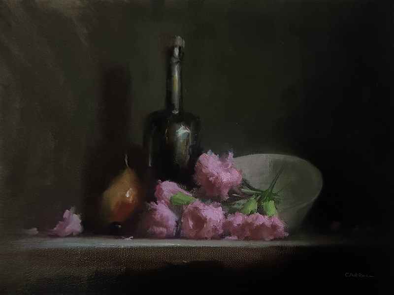 """Arrangement with Carnations"" original fine art by Neil Carroll"