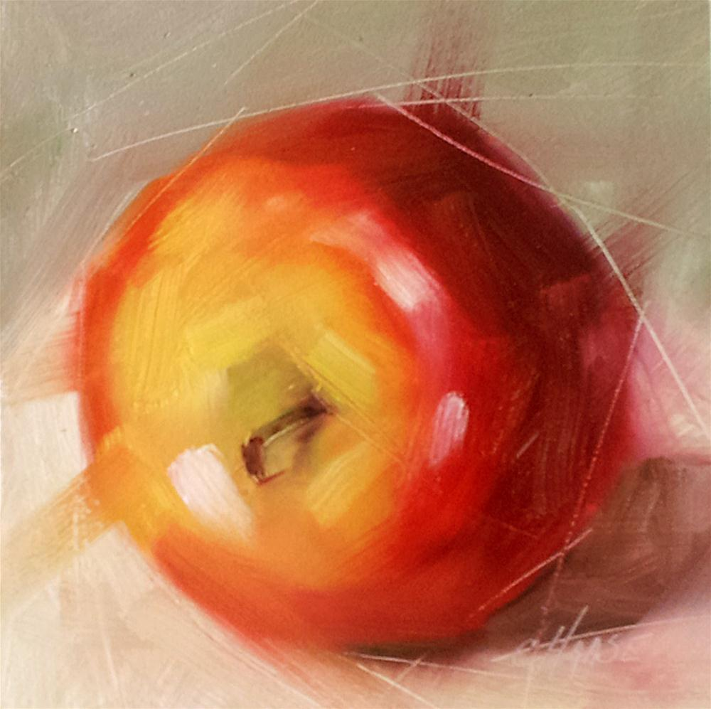 """Wednesday - An Apple"" original fine art by Cindy Haase"