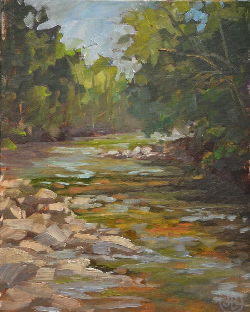 """mountain stream"" original fine art by Dottie  T  Leatherwood"