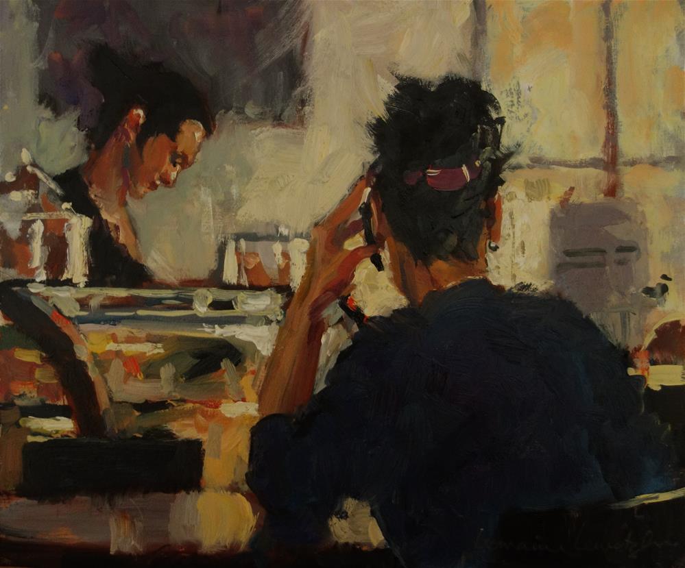 """Biding Time"" original fine art by Lorraine Lewitzka"