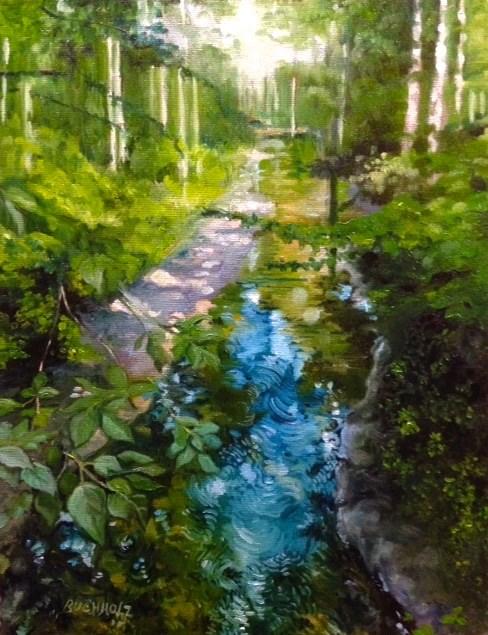 """Up the Creek"" original fine art by Terri Buchholz"