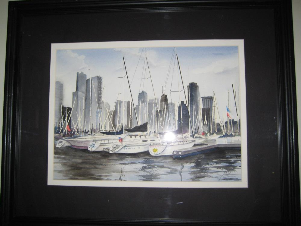 """DuSable Harbor Chicago"" original fine art by Susan Brens"