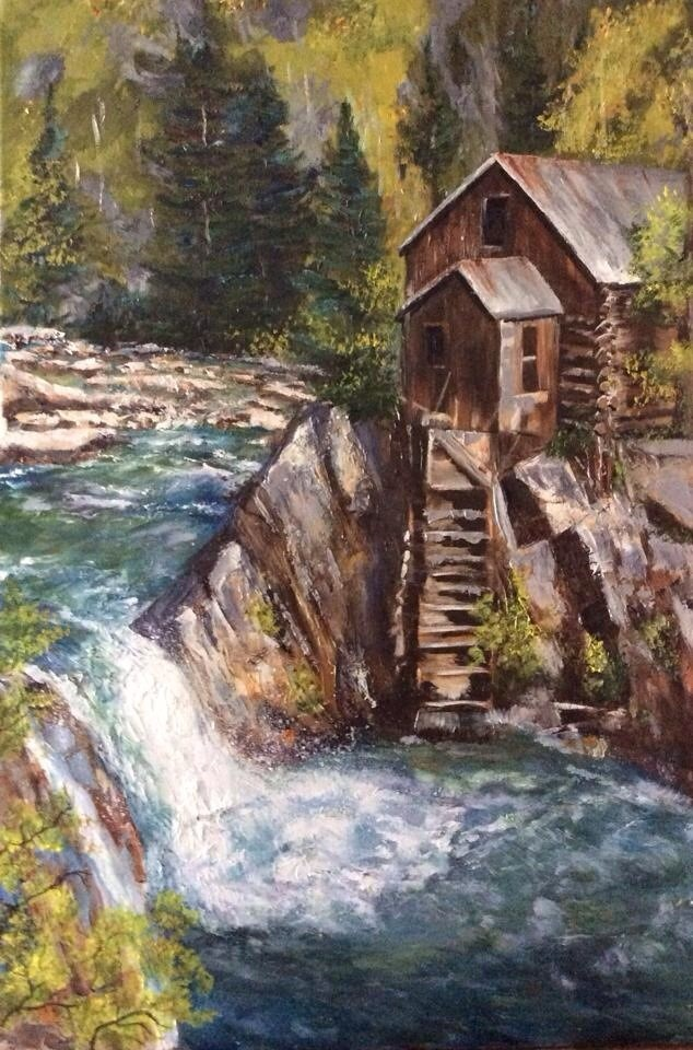"""Crystal Mill"" original fine art by Charlotte Lough"
