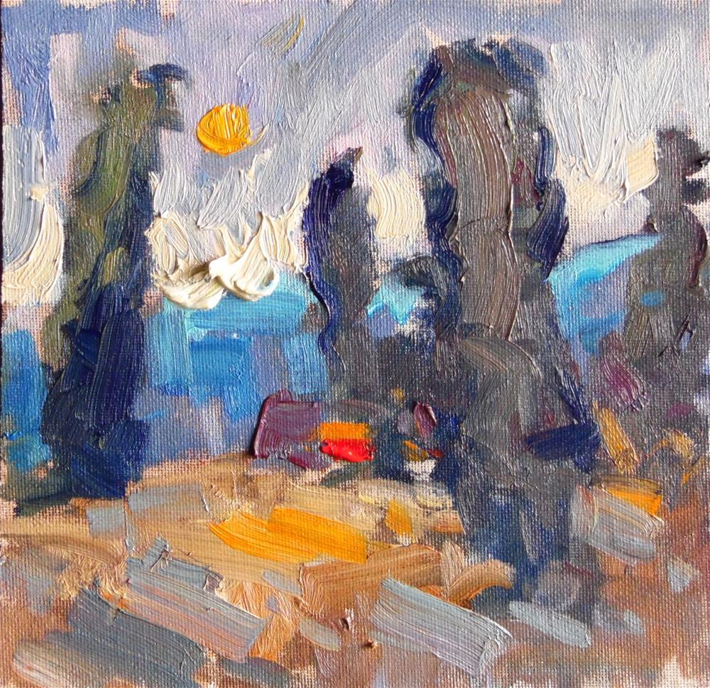 """January Moon "" original fine art by Michael Clark"