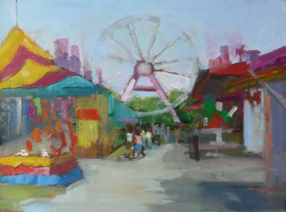 """State Fair"" original fine art by Carol Josefiak"