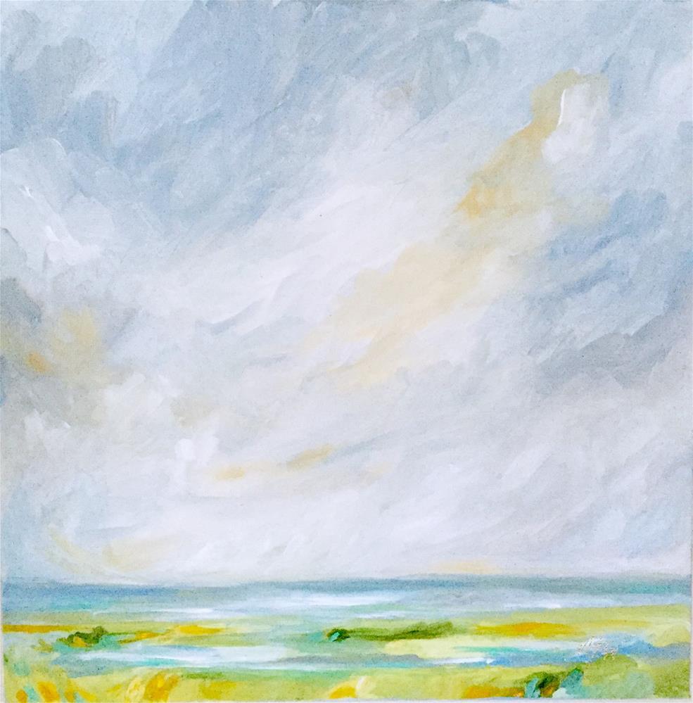 """Coastal Calm"" original fine art by Makenzi Tew"