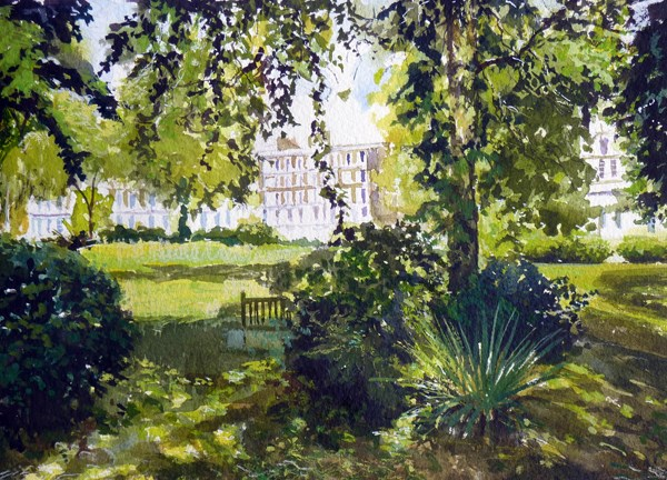 """Summer Shadows, Albert Square"" original fine art by Adebanji Alade"