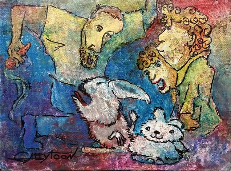 """""""Who Stole His Carrot?"""" original fine art by Gabriella DeLamater"""