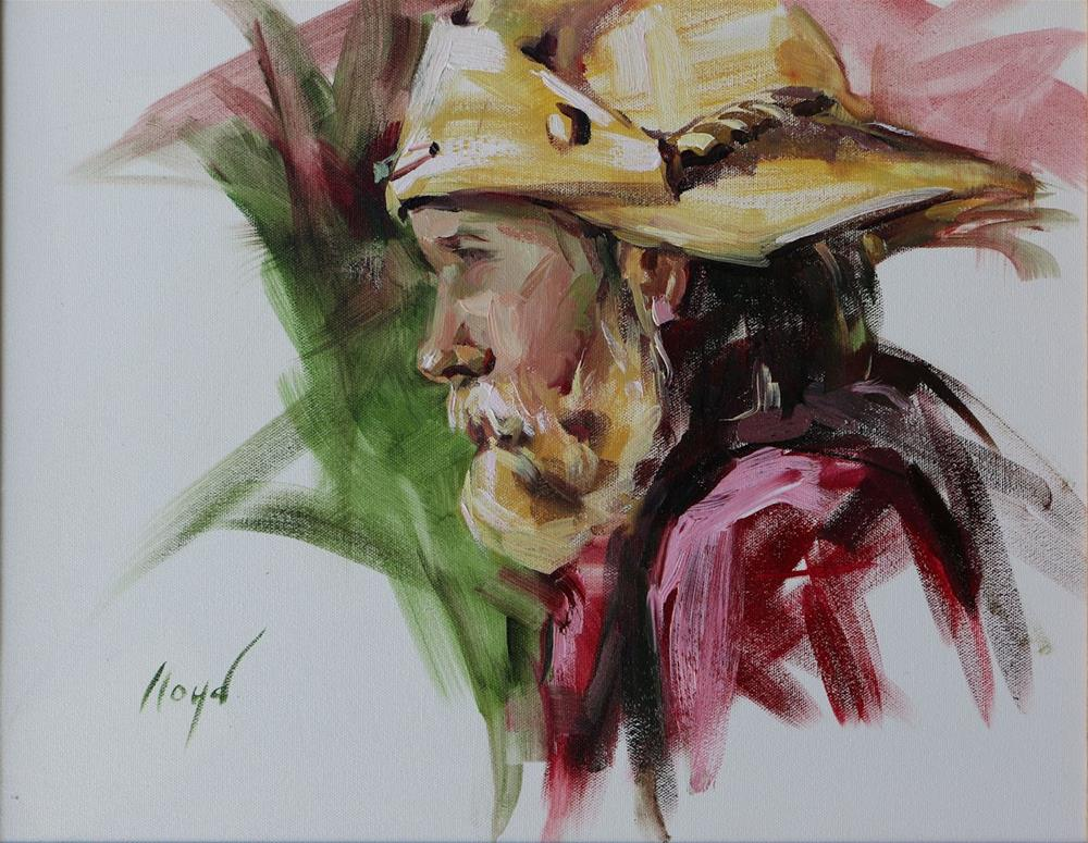 """Mule Skinner"" original fine art by Diane Lloyd"