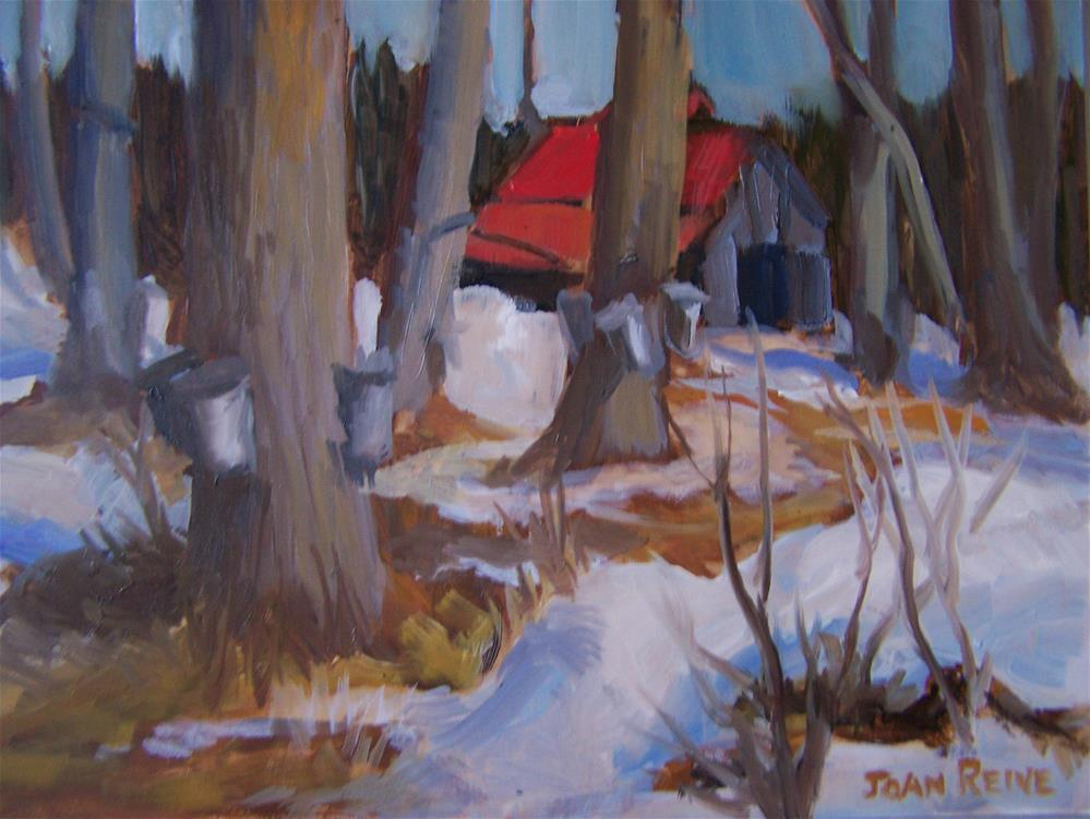 """Sugar Shack"" original fine art by Joan Reive"