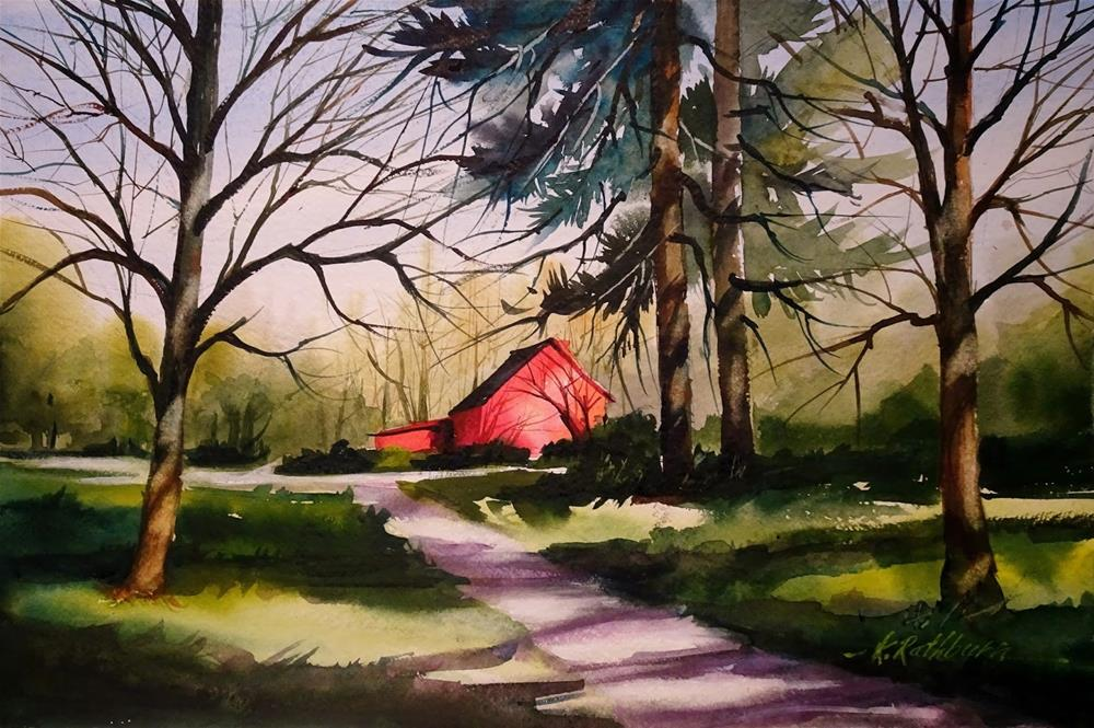 """Spring in Indiana"" original fine art by Kathy Los-Rathburn"