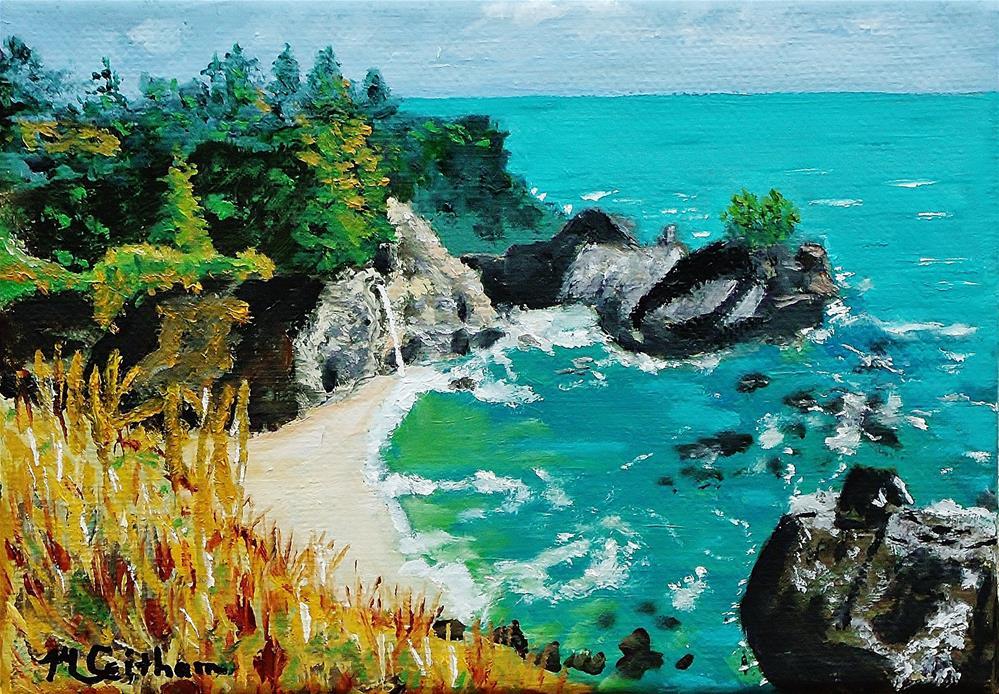 """""""McWay Falls - Big Sur"""" original fine art by Mike Caitham"""