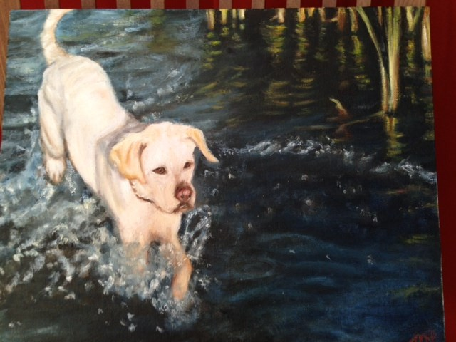 """Scout"" original fine art by Michelle Linnihan"