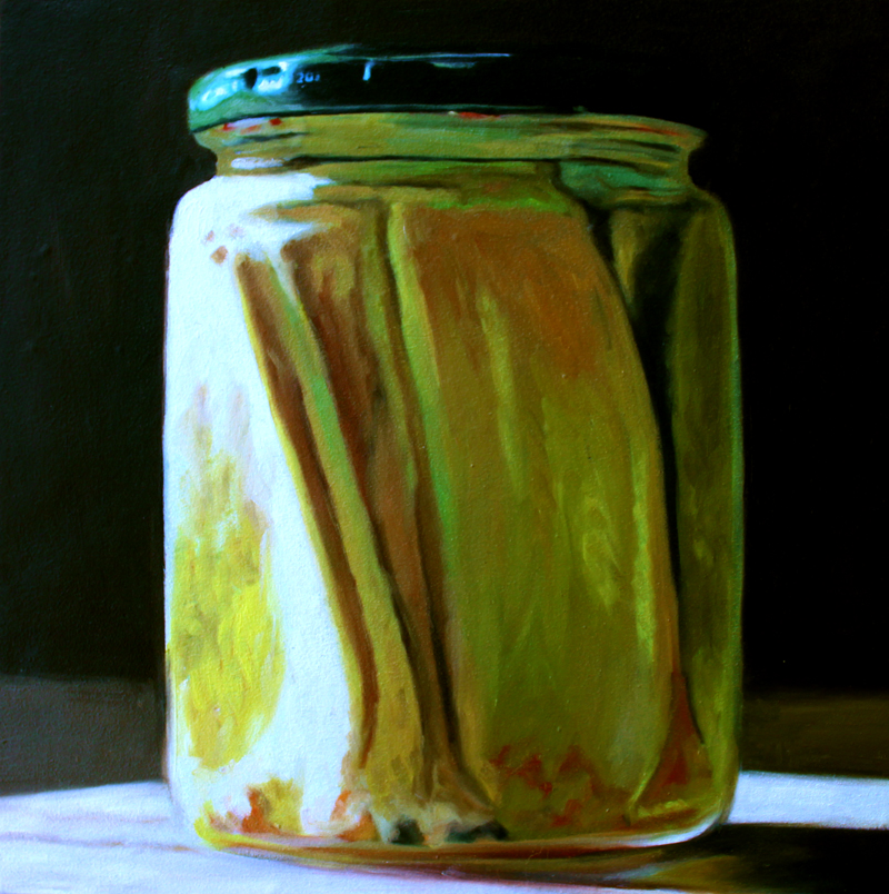 """Sliced Pickles"" original fine art by Lauren Pretorius"