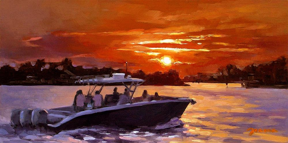 """Sunset Cruise--The 2014 Pantone Challenge"" original fine art by Joanna Bingham"