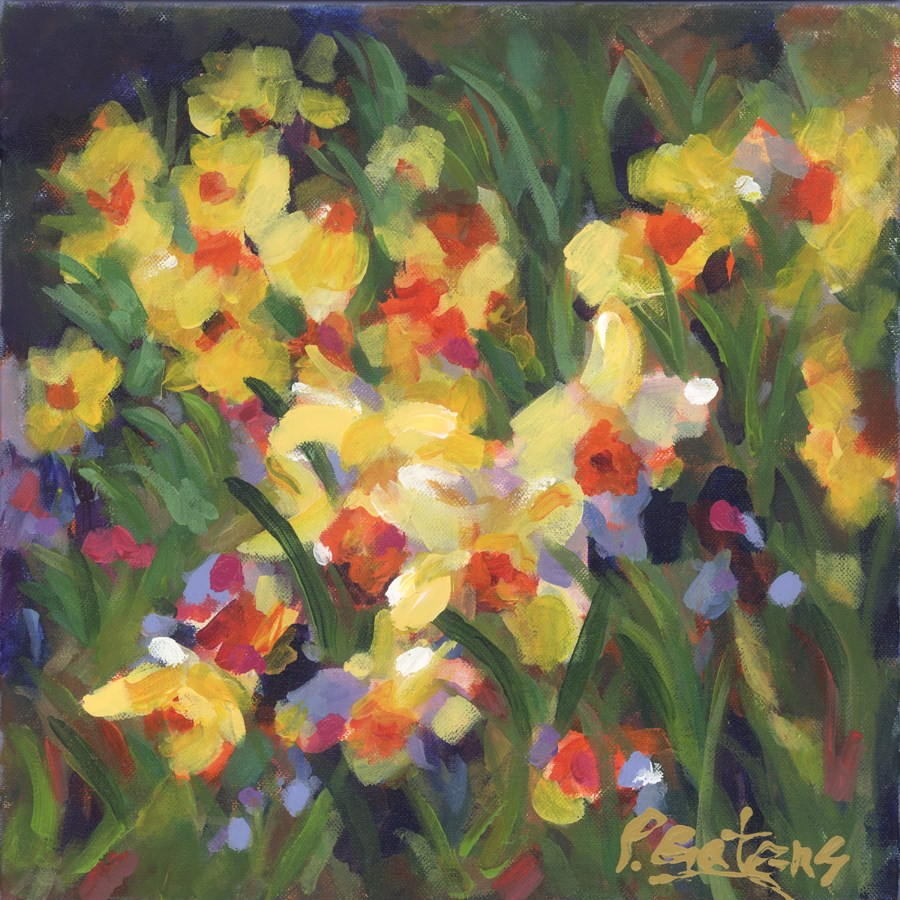 """Daffodil Treasure"" original fine art by Pamela Gatens"