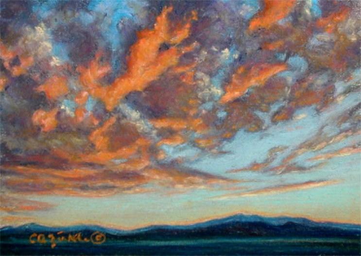 """Featherduster"" original fine art by Carol Zirkle"