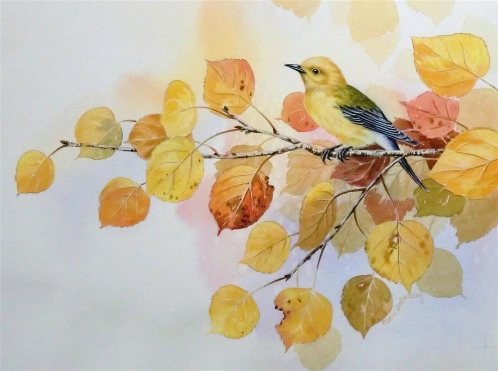 """Prothonotary Warbler"" original fine art by Jean Pierre DeBernay"