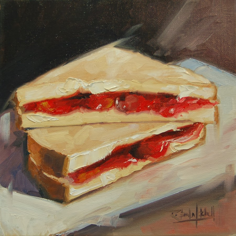 """No 633 Homemade Jam"" original fine art by Robin J Mitchell"