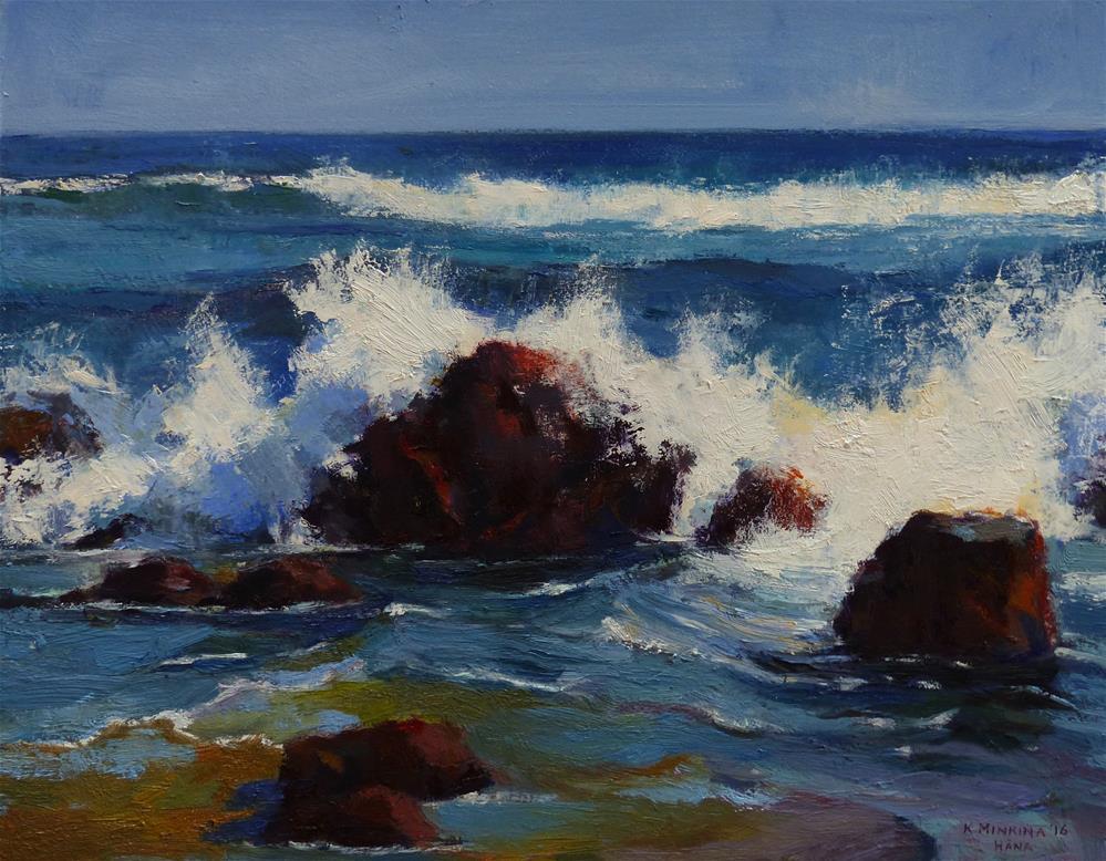 """Hamoa Rocks"" original fine art by Katya Minkina"